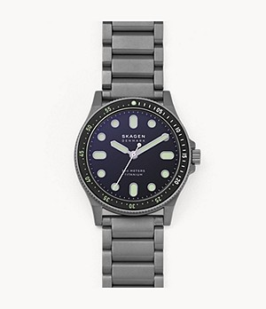 Fisk Three-Hand Grey Titanium Watch