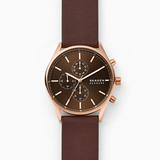 Holst Chronograph Brown Leather Watch
