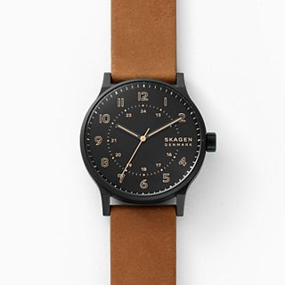 Norre Three-Hand Brown Leather Watch