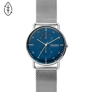 Horizont Multifunction Silver-Tone Steel-Mesh Watch