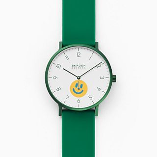 Skagen x Neighborhood Goods Aaren Three-Hand Green Silicone 41mm Watch