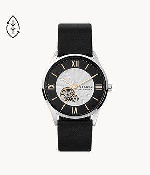 Holst Automatic Black Leather Watch