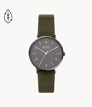 Aaren Naturals Three-Hand Green 100% Cotton Backed With LWG Watch