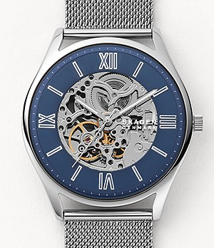 Holst Automatic Silver-Tone Steel-Mesh Watch