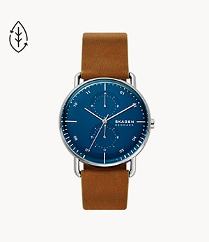 Horizont Dual Time Brown Leather Watch