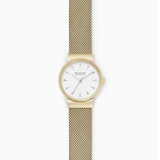 Ancher Three-Hand Gold-Tone Steel-Mesh Watch