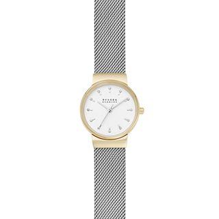 Ancher Three-Hand Silver-Tone Steel-Mesh Watch