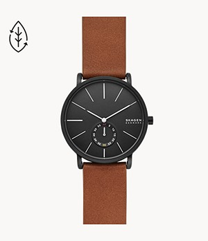 Hagen Three-Hand Brown Leather Watch