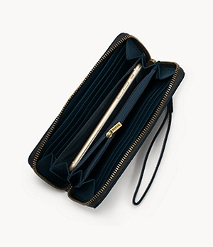 Logan RFID Zip Around Clutch