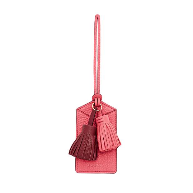 Bijou de sac étiquette de bagage et pompons