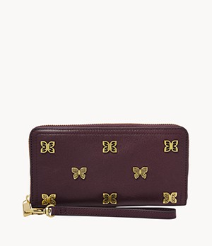 Damen Geldbörse Logan - RFID Zip Clutch
