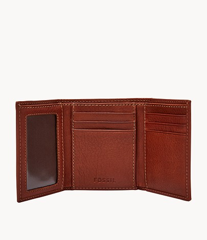 Fossil Men's Leather Lufkin Trifold Wallet