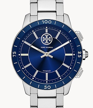 Tory Burch Collins Hybrid Smartwatch Navy Blue