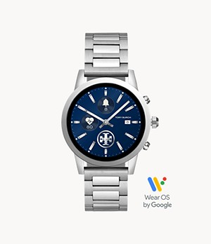 Tory Burch Touchscreen Smartwatch - ToryTrack Gigi Steel