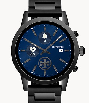 Tory Burch Touchscreen Smartwatch - ToryTrack Gigi Black Steel