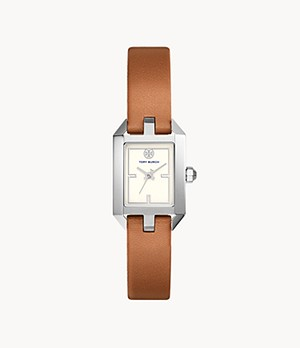 Tory Burch Dalloway Three-Hand Luggage Leather Watch