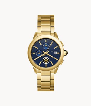 Tory Burch Collins Chronograph Gold-Tone Stainless Steel Watch