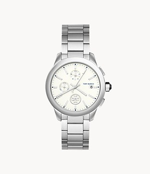 Tory Burch Collins Chronograph Stainless Steel Watch