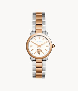 Tory Burch Collins Three-Hand Two-Tone Stainless Steel Watch