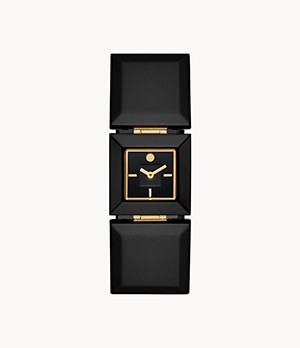 Tory Burch Robertson Two-Hand Black Acetate Watch