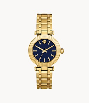 Tory Burch Classic T Three-Hand Gold-Tone Stainless Steel Watch