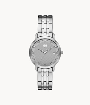 Watch Station Collection Three-Hand Date Steel Watch