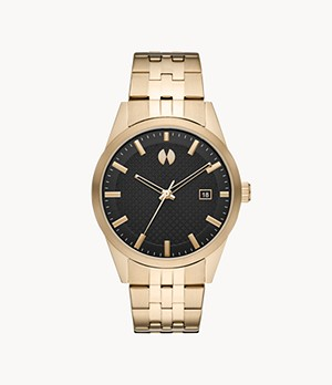 Watch Station Collection Three-Hand Date Gold-Tone Steel Watch