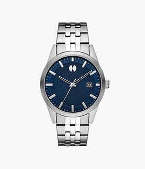 Watch Station Collection Three-Hand Date Stainless Steel Watch