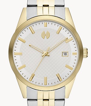 Watch Station Collection Three-Hand Date Two-Tone Steel Watch