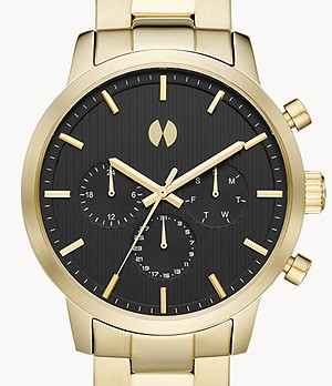 Watch Station Collection Multifunction Gold Stainless Steel Watch
