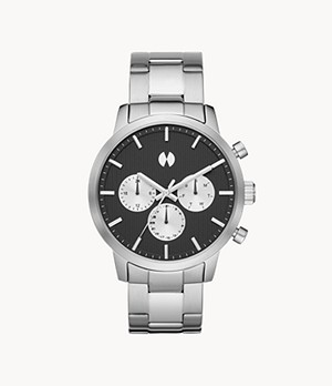 Watch Station Collection Multifunction Silver Stainless Steel Watch
