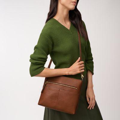 Ladies\Girls Small Soft Leather Over body Bag Handbag Shoulder Bag