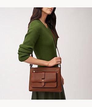 Women Small Brown leather bag Women crossbody bag Women/'s Leather shoulder bag Side purse