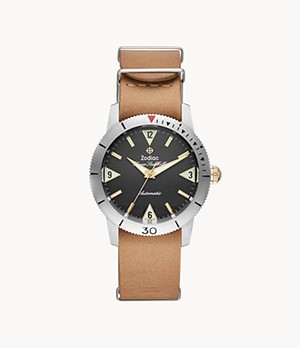 Super Sea Wolf Automatic Brown Leather Watch