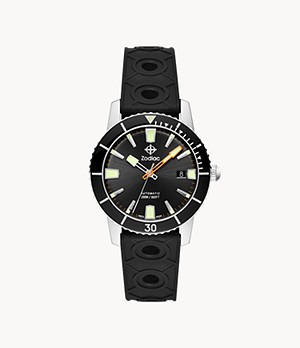 Super Sea Wolf 53 Compression Automatic Black Caoutchouc Rubber Watch