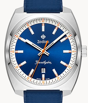Watch Station Exclusive - Grandhydra Quartz Blue Rubber Watch